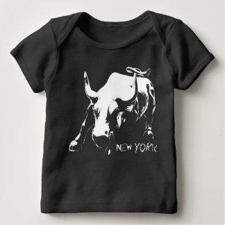 New- Yorkandenken-Baby-Bio Shirt-Stier-Statue Shirt