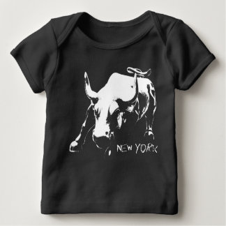 New- Yorkandenken-Baby-Bio Shirt-Stier-Statue Shirts