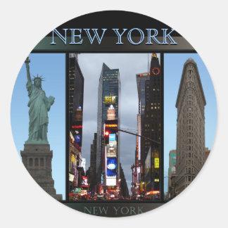 New- Yorkaufkleber-coole New- Runder Aufkleber