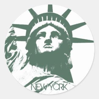 New- Yorkaufkleber-coole New- Yorkandenken-Aufkleb Runde Sticker