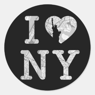 New- Yorkaufkleber Runder Aufkleber