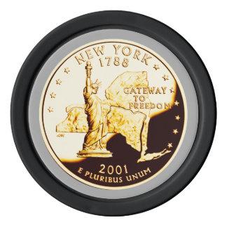 New- Yorkbeweis-GoldStaats-Viertel Poker Chips Set