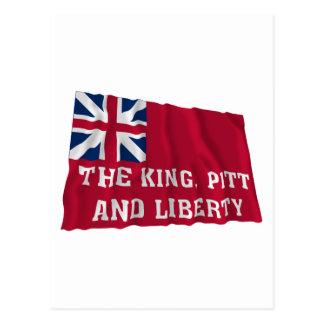 New- Yorkfreiheits-Flagge von 1766 Postkarte