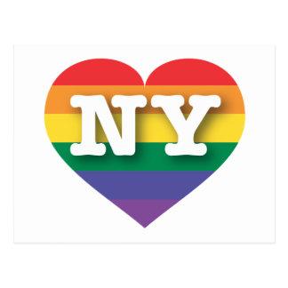 New- YorkGay Pride-Regenbogen-Herz - große Liebe Postkarte