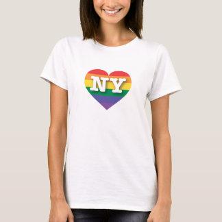 New- YorkGay Pride-Regenbogen-Herz - große Liebe T-Shirt