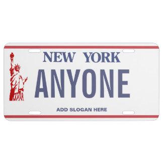 New- Yorkgewohnheits-Kfz-Kennzeichen US Nummernschild