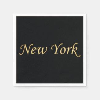 New- Yorkgold - auf Schwarzem Papierserviette