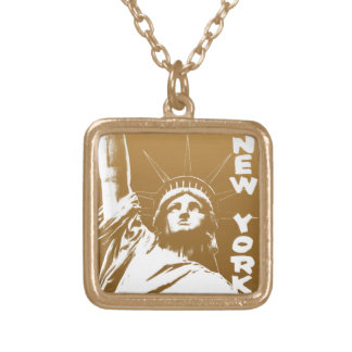 New- Yorkhalsketten-Freiheitsstatue NYC Andenken Vergoldete Kette