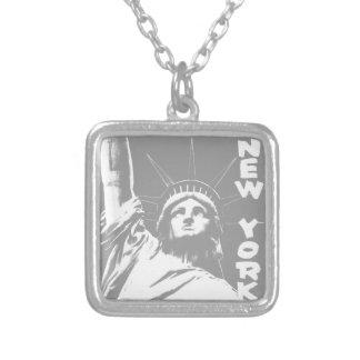 New- Yorkhalsketten-Freiheitsstatue NYC Andenken Versilberte Kette