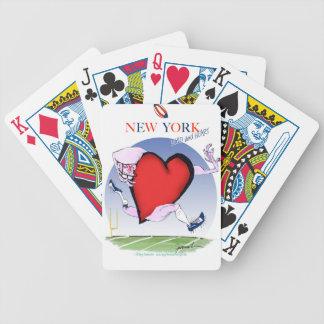 New- Yorkhaupt- und Herz, tony fernandes Bicycle Spielkarten