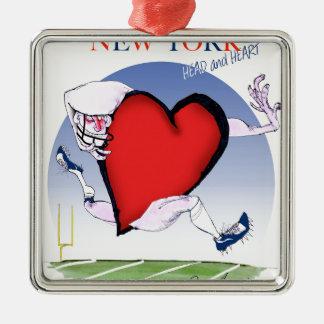 New- Yorkhaupt- und Herz, tony fernandes Silbernes Ornament