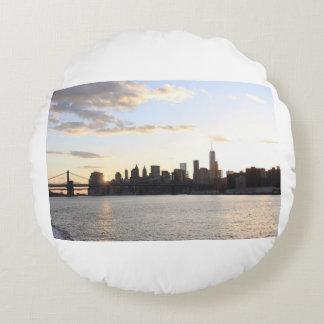 New- Yorkhimmellinie Rundes Kissen
