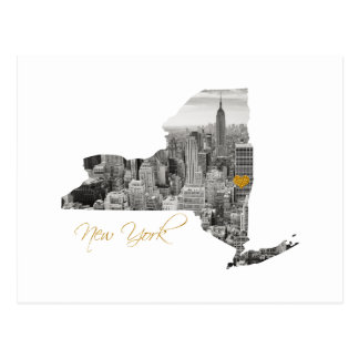 New- Yorkkarte herausgeschnitten Postkarte
