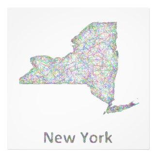 New- Yorkkarte Kunst Fotos