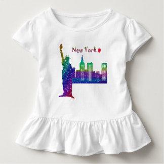 New- Yorkkleinkind-Rüsche-T-Stück Kleinkind T-shirt