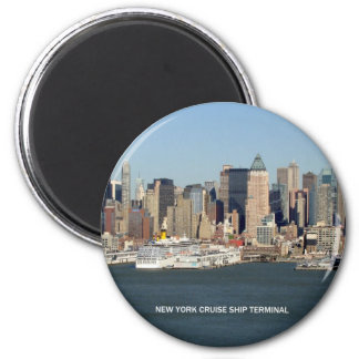 New- YorkKreuzschiff-Anschluss Runder Magnet 5,1 Cm
