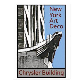 New- Yorkkunst-Deko - Chrysler-Gebäude-Adler Postkarte