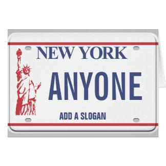New- Yorklizenz-Platte (personalisiert) Karte