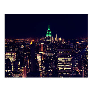 New- YorknachtSkyline Postkarte