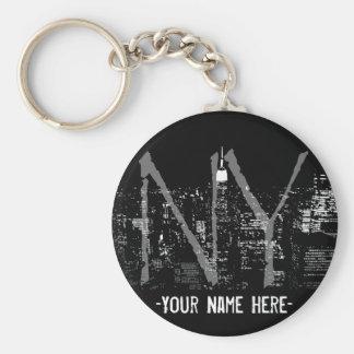 New Yorkschlüsselketten-kundengebundene New- Schlüsselanhänger