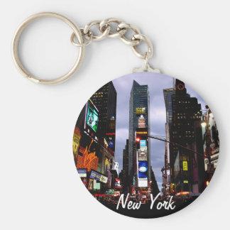 New Yorkschlüsselketten-Times Square-Stadt Standard Runder Schlüsselanhänger