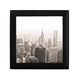 New- Yorkschnee Kleine Quadratische Schatulle