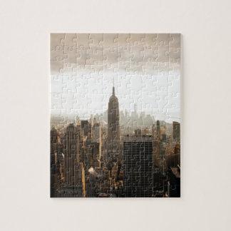 New- YorkSkyline - Dämmerung - Grau Puzzle