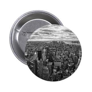 New- YorkSkyline Runder Button 5,1 Cm