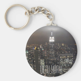 New- YorkSkyline-Schlüsselketten-New- Yorkandenken Standard Runder Schlüsselanhänger