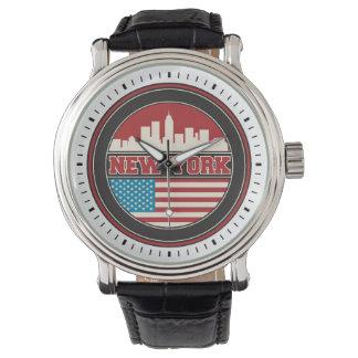 New- YorkSkyline | Vereinigte Staaten kennzeichnen Armbanduhr