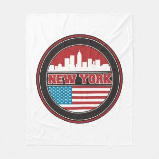 New- YorkSkyline | Vereinigte Staaten kennzeichnen Fleecedecke