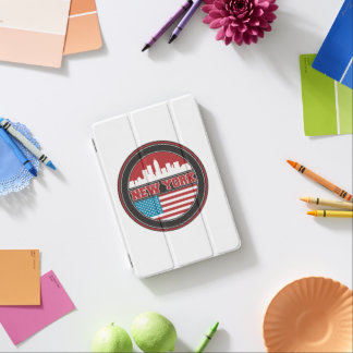 New- YorkSkyline | Vereinigte Staaten kennzeichnen iPad Mini Hülle
