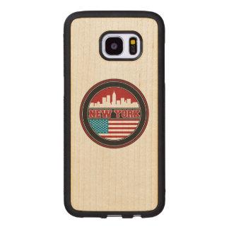 New- YorkSkyline | Vereinigte Staaten kennzeichnen Samsung Galaxy S7 Edge Holzhülle