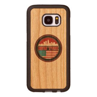 New- YorkSkyline | Vereinigte Staaten kennzeichnen Samsung Galaxy S7 Holzhülle