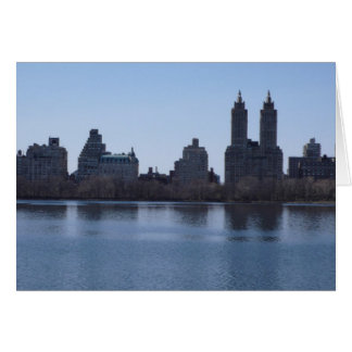 New- YorkSkyline vom Central Park Karte