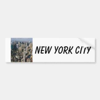 New YorkSkylineansicht vom Reich-Staats-Gebäude Autoaufkleber