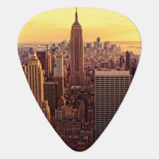 New Yorkskylinestadt mit Reich-Staat Gitarren-Pick