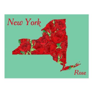 New- YorkStaats-Blumen-Collagen-Karte Postkarten