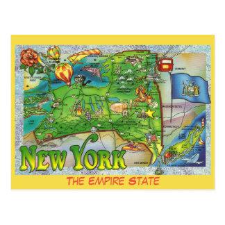 New- YorkStaats-Karte Postkarte
