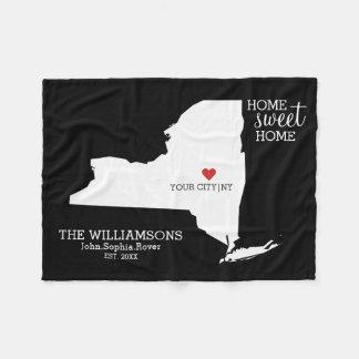 New- YorkStaats-Karten-individuelle Namen, Stadt, Fleecedecke