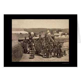 New- YorkStaats-Miliz, Fort Corcran, VA 1861 Karte