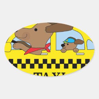 New- Yorktaxi-Hund Ovaler Aufkleber