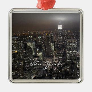 New- Yorkverzierungs-New- Yorkandenken-Dekoration Silbernes Ornament