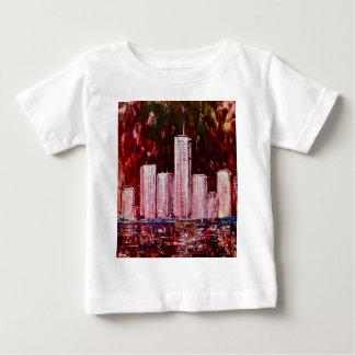 New- Yorkwolkenkratzer-Säuglings-T-Shirt T-shirt