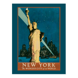 New- Yorkwunder-Stadt der Welt Postkarte