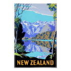 New Zealand See Matheson Vintages Reise-Plakat Poster