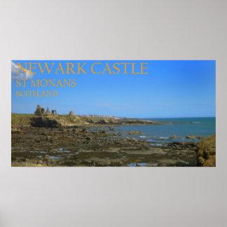 Newark-Schloss, St. Monans, Schottland Poster