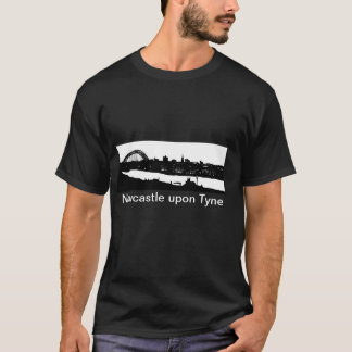 Newcastle nach Tyne-Silhouette-T - Shirt