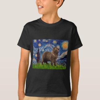 Newfie (brown2) - sternenklare Nacht T-Shirt