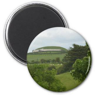 Newgrange Durchgangs-Grab Runder Magnet 5,1 Cm